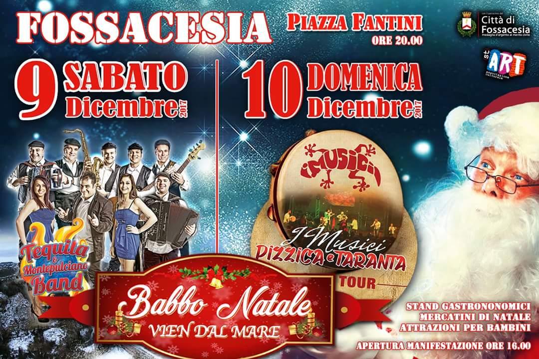 Babbo Natale vien dal mare in piazza Fantini a Fossacesia