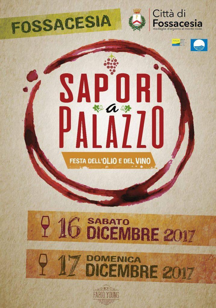 Locandina dell'evento Sapori a Palazzo 2017 Fossacesia
