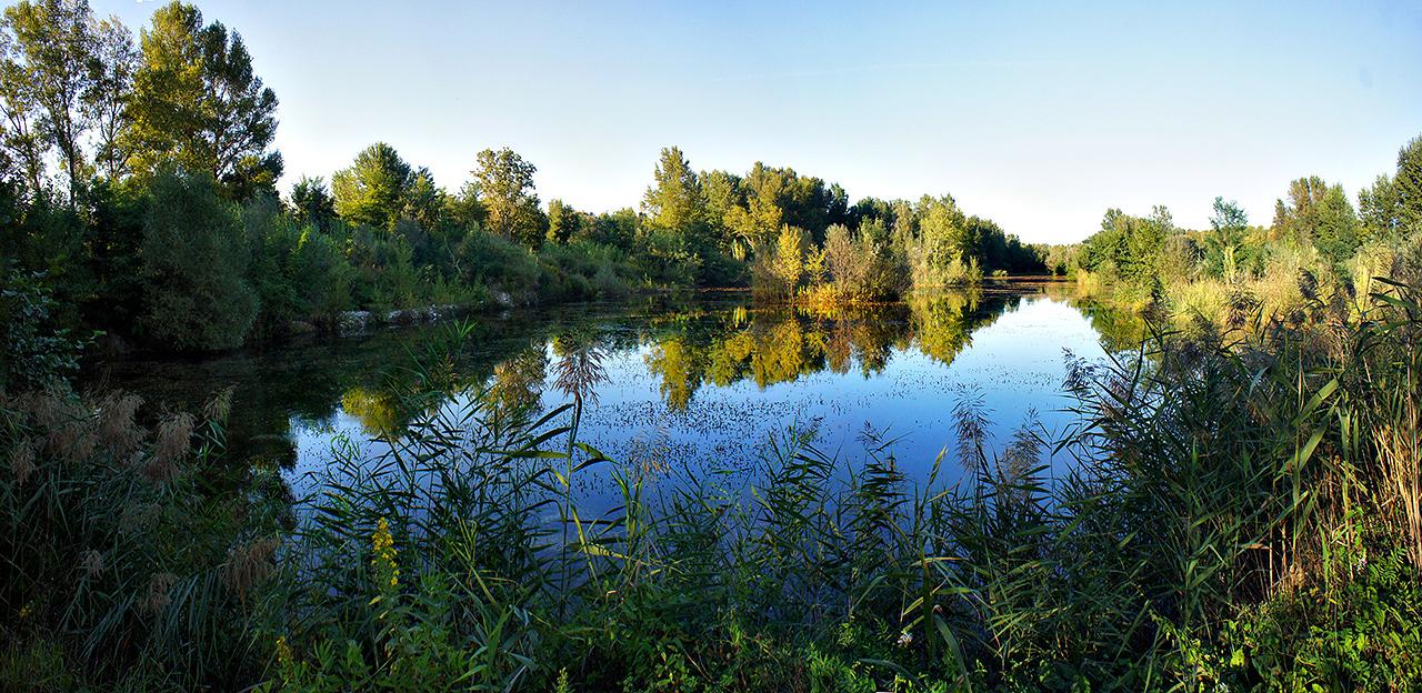 foto panoramica della riserva lago di serranella